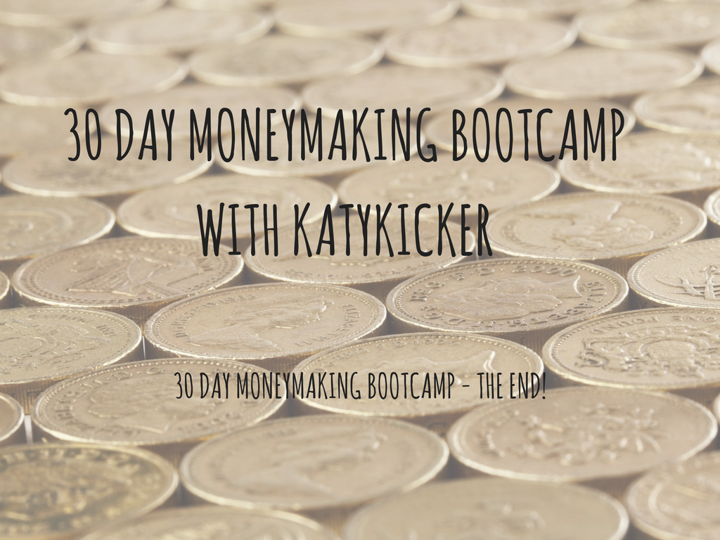 TMS Money Making Bootcamp -  30 day moneymaking bootcamp - the end!