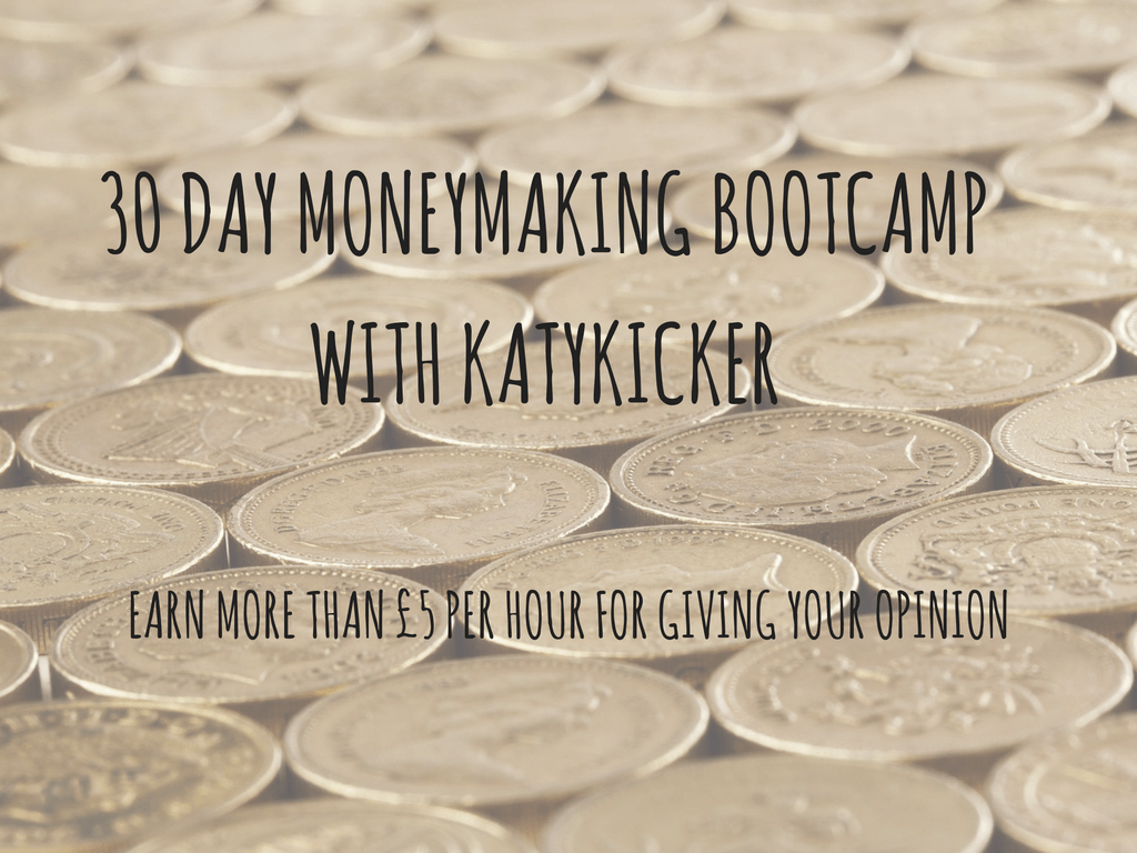 TMS Money Making Bootcamp - Earn more than £5 per hour for giving your opinion
