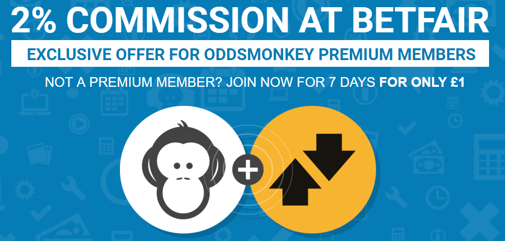 Oddsmonkey are offering 2% commission on Betfair until the end of 2017 BUT YOU HAVE TO ACT QUICK!