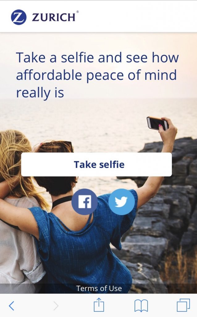 Let Your Selfie Do The Work And Get You An Instant Life Insurance Cool Zurich Life Insurance Quote