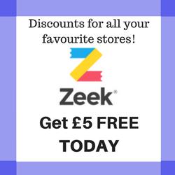 Zeek £5 Off code