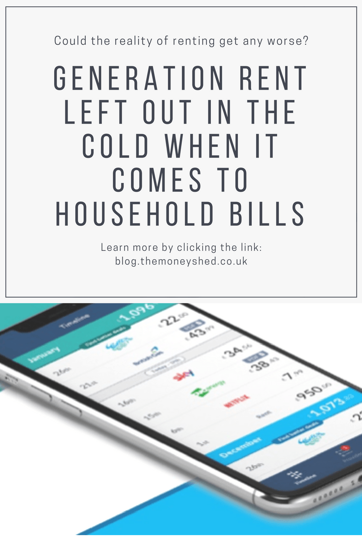 Generation rent left out in the cold when it comes to household bills