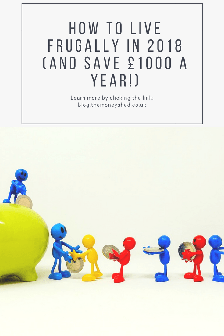 how to live frugally in 2018 and save £1000