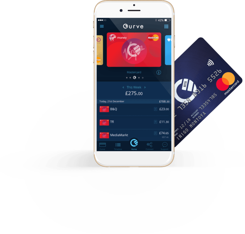 Curve App and card