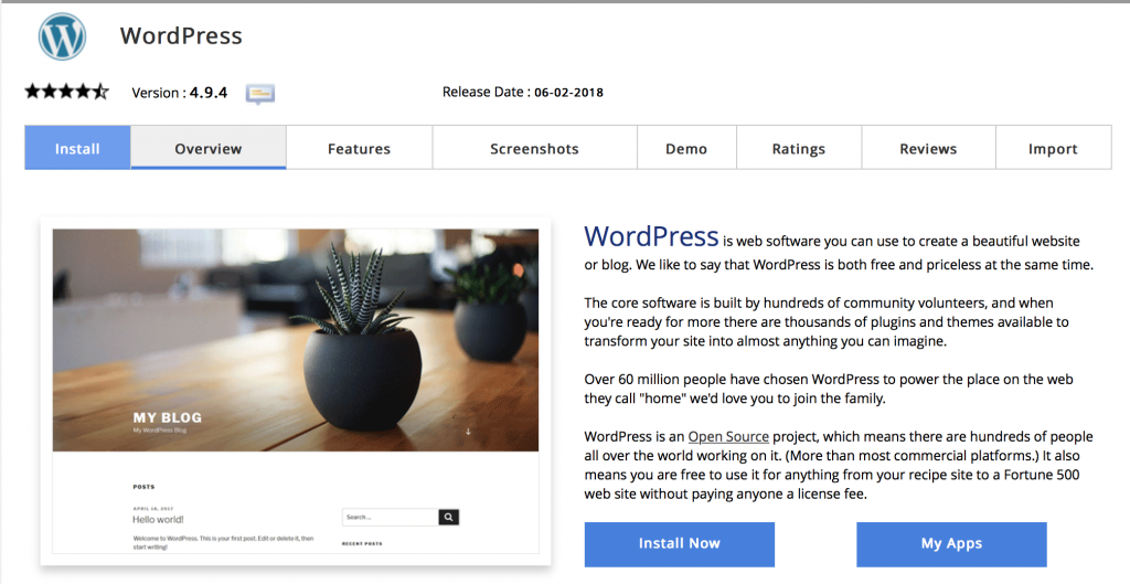 How to set up your blog wordpress install