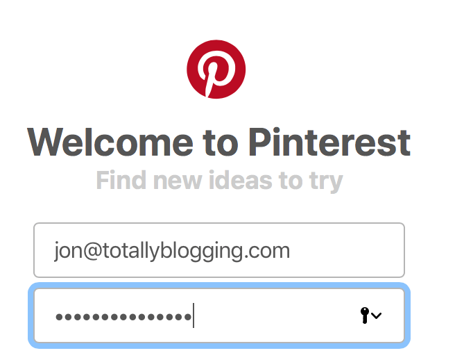 creating a pinterest account