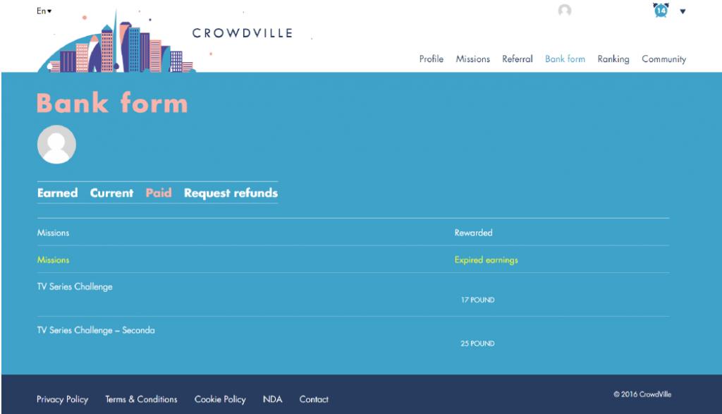 crowdville earnings
