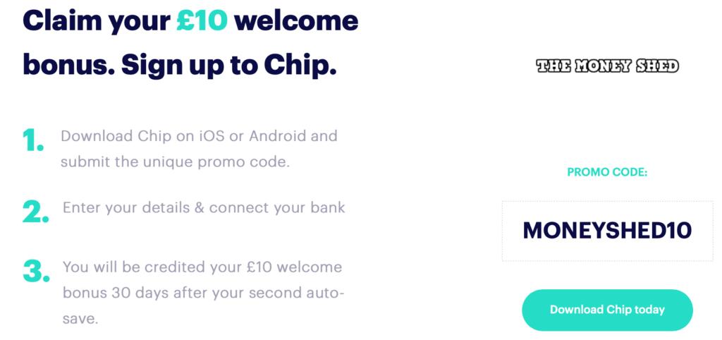Chip £10 Welcome Bonus