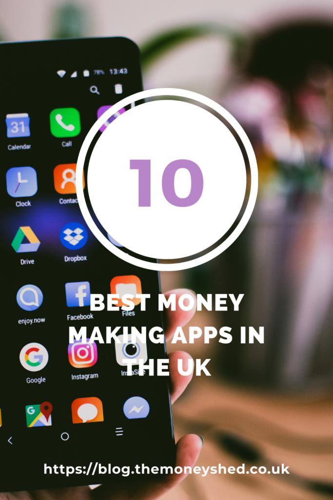 10 best money making apps in the uk pinterest