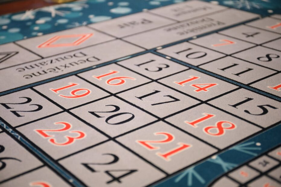 casino luck calendar time