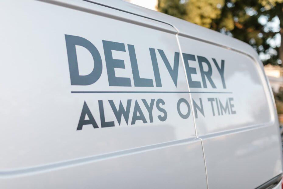 a delivery van slogan